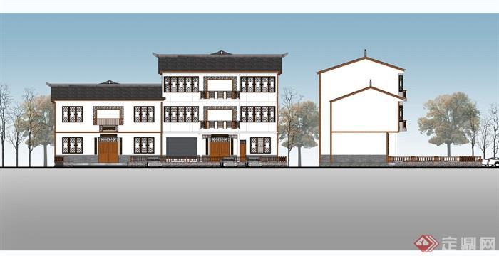 某别墅小区建筑楼设计su模型(3)