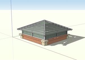 某园林景观采光井设计SU(草图大师)模型
