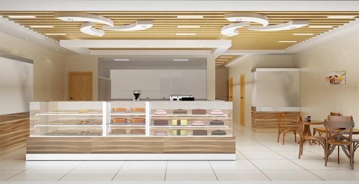 蛋糕店室内设计su模型含效果图[原创]
