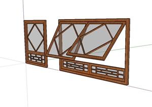 某建筑窗户设计SU(草图大师)模型