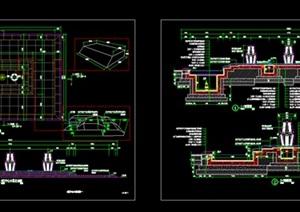 中心水景设计cad施工图