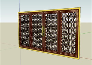 古建筑窗户设计SU(草图大师)模型