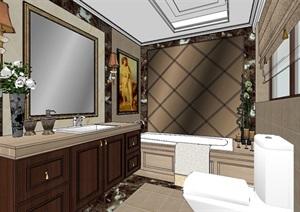 样板间卫浴空间设计SU(草图大师)模型