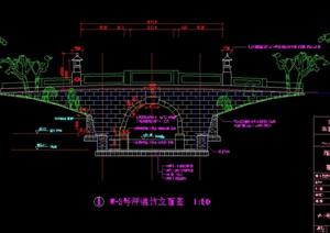 大唐芙蓉园W3号桥cad施工图