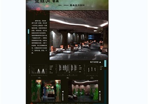 某餐厅空间毕业设计psd展板