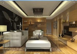 某室内整体家装项目案例(含CAD+效果图+模型)