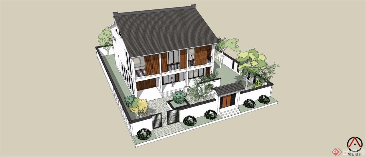 住宅外立面设计吸收了江南水乡民居