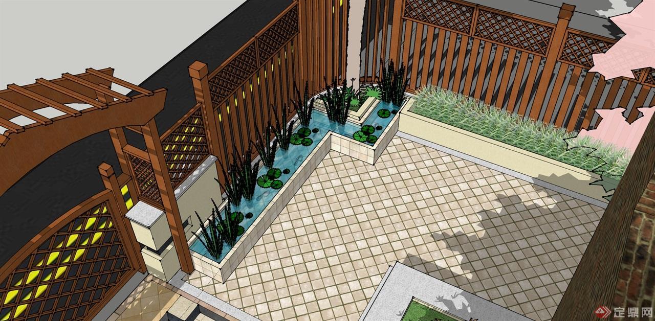 东台别墅庭院设计