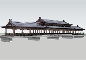 某古典长廊设计SU(草图大师)模型