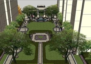 新古典住宅小区景观SU(草图大师)模型