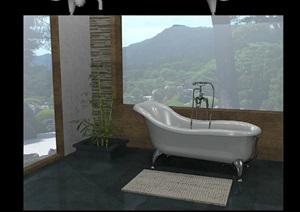 5个浴缸设计SU(草图大师)模型