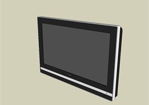 两个显示器设计SU(草图大师)模型