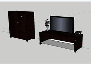 11个不同的电视机设计SU(草图大师)模型