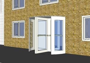 欧式风格住宅简单大门设计SU(草图大师)模型