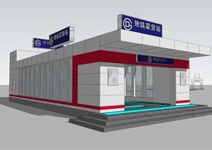 某地铁站设计含CAD+效果图+模型