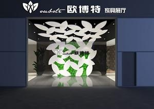 家具工厂展厅含CAD+效果图+模型