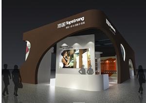 五金展会展厅含CAD施工图+效果图+模型