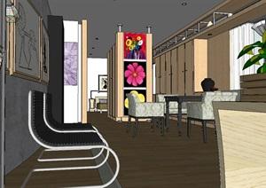 某现代风格室内酒店室内设计SU(草图大师)模型