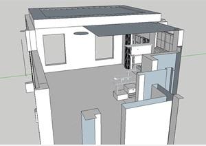 室内住宅玄关柜子设计SU(草图大师)模型