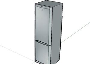 单开门冰箱设计SU(草图大师)模型