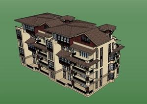 多层住宅小区楼SU(草图大师)模型