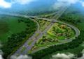 某高速公路峄城南收费站绿化改造cad、pdf方案及效果图