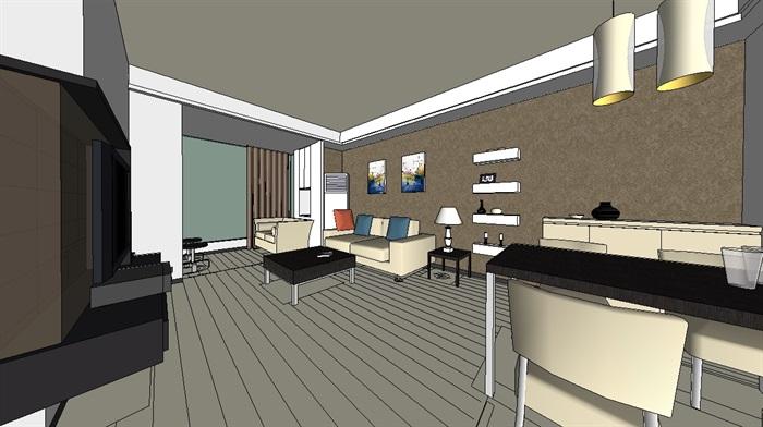 某住宅室內空間裝修設計su模型[原創]