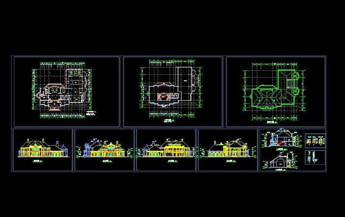 精品法式别墅SU模型 CAD 及高清效果图(5)