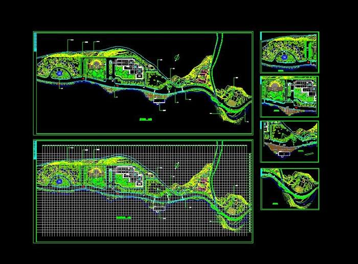 一套精细的滨湖别墅庭院景观设计cad图纸[原创]