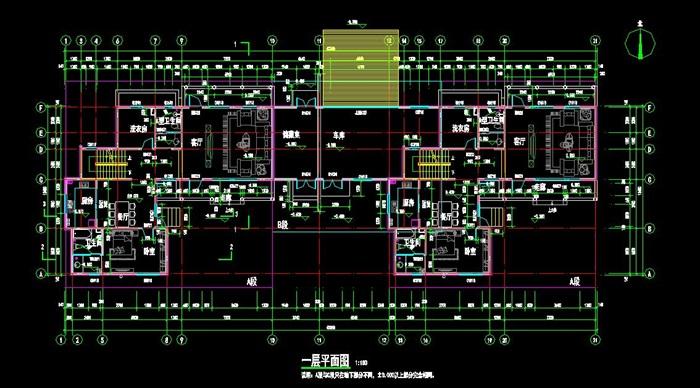 现代中式风格双拼别墅建筑设计施工图[原创]