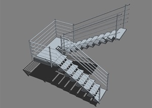 室內樓梯設計SU(草圖大師)模型