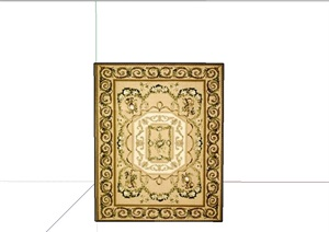 多个不同的地毯设计SU(草图大师)模型