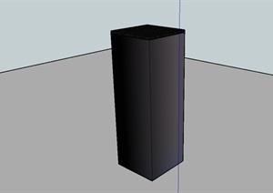 柱子底座设计SU(草图大师)模型
