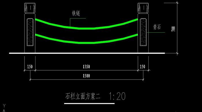 4种石栏杆立面cad曲线图[原创]cad大样软件计算中长度计算图片