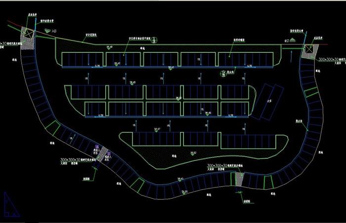 林荫停车场设计cad施工做法[原创]2007版cad下载图片