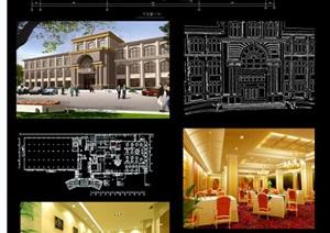欧式风格酒店室内设计毕业展板排版PSD源文件