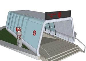 精品地铁入口SU(草图大师)模型