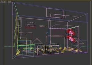 摩托车展厅设计3d模型