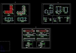 景观廊架全套CAD施工图
