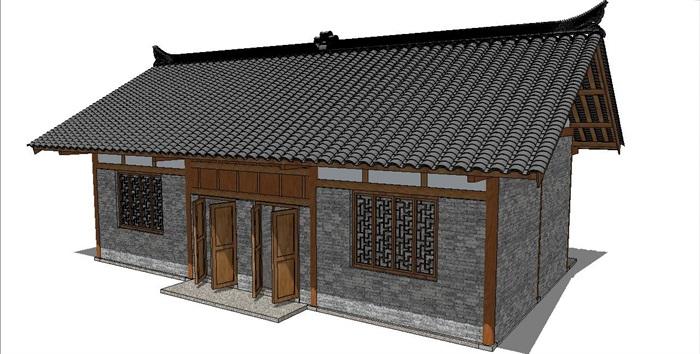 古典中式风格公共卫生间厕所su模型[原创]