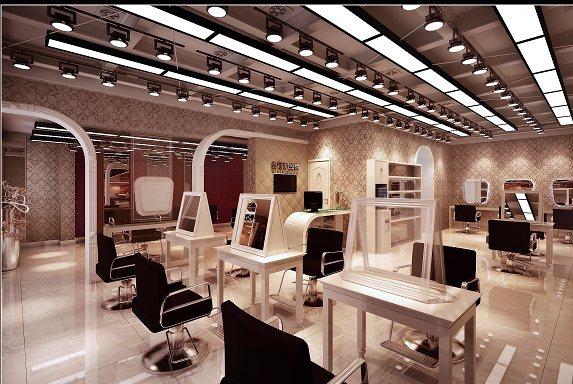 現代風格理發店室內裝修設計3dmax模型[原創]