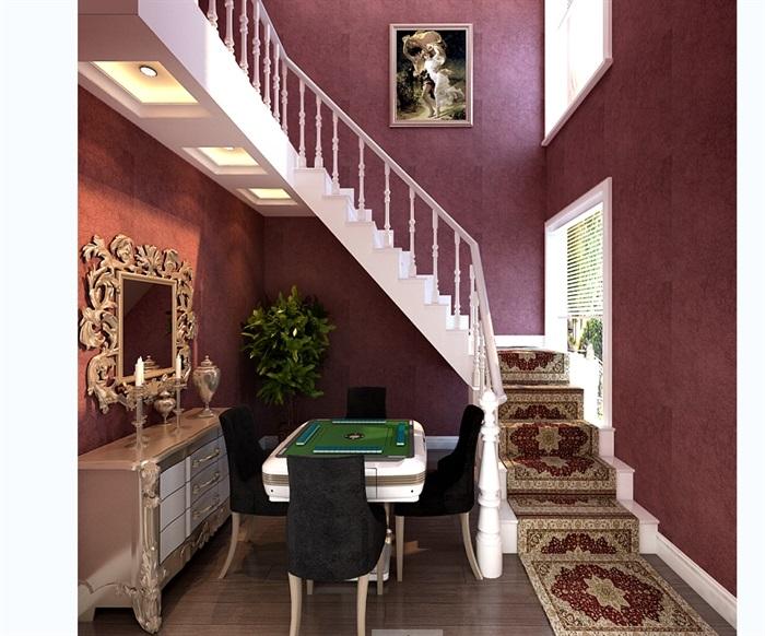 欧式住宅室内楼梯间设计3d模型[原创]