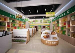 农产品展厅设计3d模型