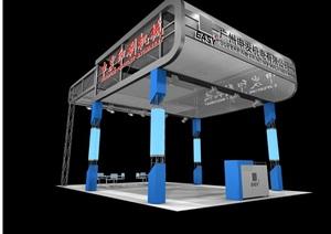展厅展示设计3d模型