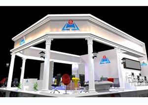 现代企业展厅详细设计3d模型