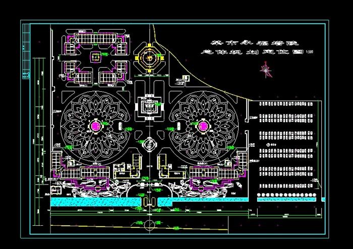某市永福陵园规划设计cad总平面图[原创]图片