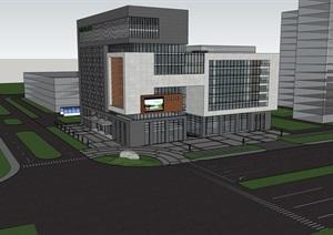 办公大楼SU(草图大师)模型