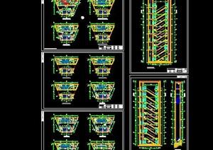 各种高层建筑楼梯和电梯的cad施工详图