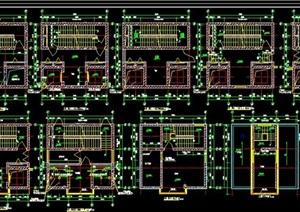 各种普通楼梯和电梯的平面及剖面节点cad详图