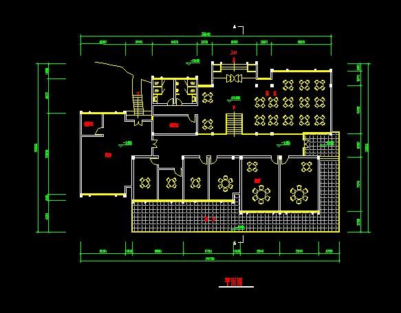 一个方案的文件cad平面图[原创]打开怎么ascad+茶室图片